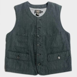 PIN CHECK STRIPE VEST(L)