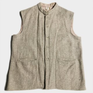40's FRENCH TWEED/LINEN VEST