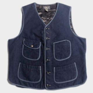 WOOL STRIPE PUFF VEST(M)