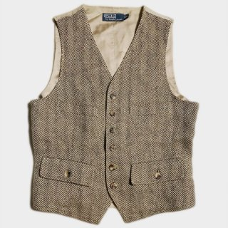 HERRINGBONE TWEED VEST(S)