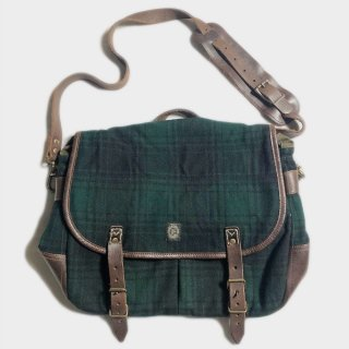 WOOL CHECK SHOULDER BAG