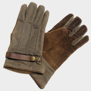OILED COTTON/SUEDE GLOVE