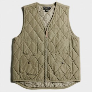 QUILTED ZIP UP VEST(M)