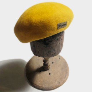 RABBIT FUR BERET (D.YELLOW)
