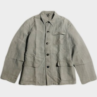 30's FRENCH MIX LINEN COVERALL