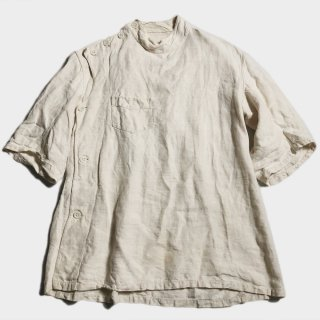 40's F.MILITARY LINEN MEDICAL TOPS