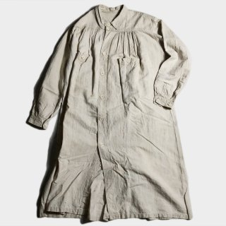 1900's FRENCH LINEN OPEN SMOCK