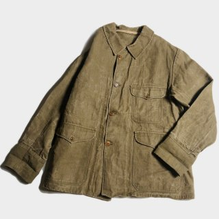 30's FRENCH LINEN HUNTING JKT