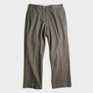 HERRINGBONE WOOL SLACKS