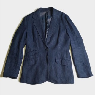INDIGO LINEN TAILORED JACKET