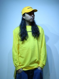 【BAD HANDS】 BAD HANDS LOGO Long Sleeve TEE(Yellow)