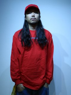 【BAD HANDS】 BAD HANDS LOGO Long Sleeve TEE(Red)
