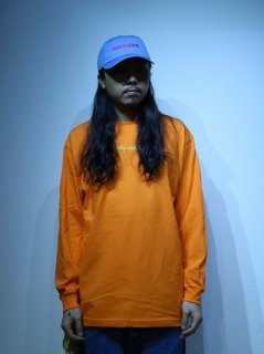 【BAD HANDS】 BAD HANDS LOGO Long Sleeve TEE(Orange)