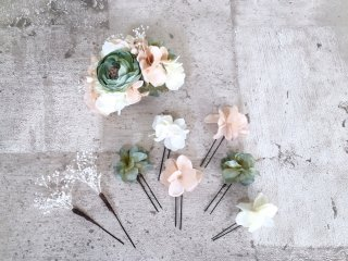 【オーダーメイド商品】ドレスに合わせたヘッドドレス&花冠