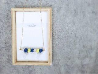 水引7連玉ネックレス(瑠璃色)