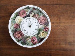 【オーダーメイド商品】フラワー時計