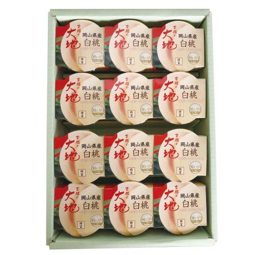 岡山産白桃ゼリー140g (12個入)