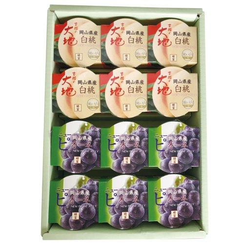 白桃ゼリー・ニューピオーネゼリーセット140g (12個入)