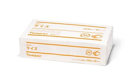 タウパーライズM ペーパータオル 200枚×30袋 シングル(1ケース)