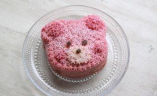 ピンクベア 米粉ナッツフリーケーキ