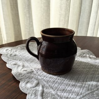 フランスアンティーク 陶器製容器
