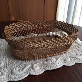 フランスアンティーク 手編みのパニエ