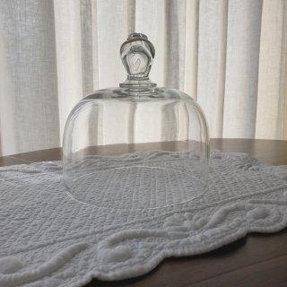 フランスアンティーク ゆらゆら気泡ガラスのクロッシュ