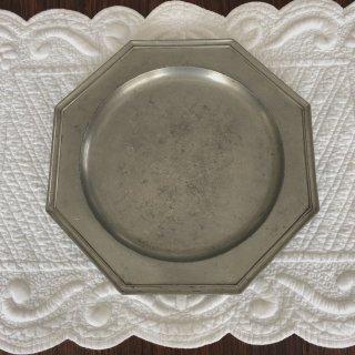 フランスアンティーク オクトゴナル エタン皿