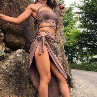 バンドゥツーピースドレス
