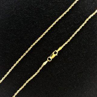 10K Yellow Gold ロープチェーン(1.5mm×50cm)
