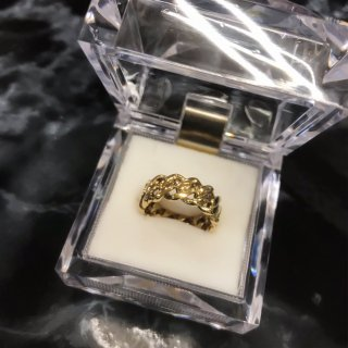 【14K Gold Plated】マイアミキューバンリング