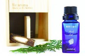 「熊野の香り®」 熊野ヒノキ枝葉 木箱入りアロマオイル