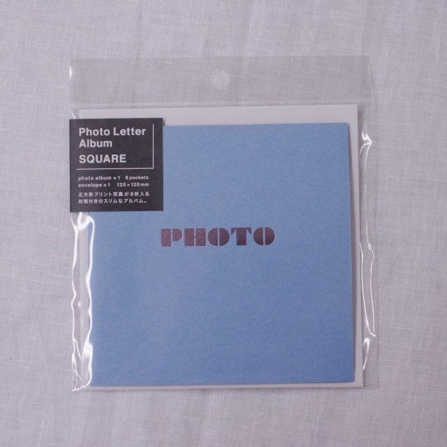 PHOTO LETTER ALBUM SQUARE/ブルー