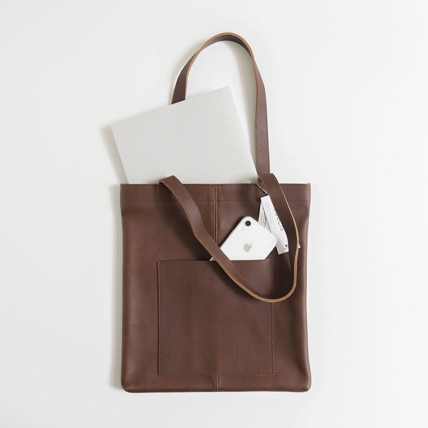 Leather bag shoulder Brown