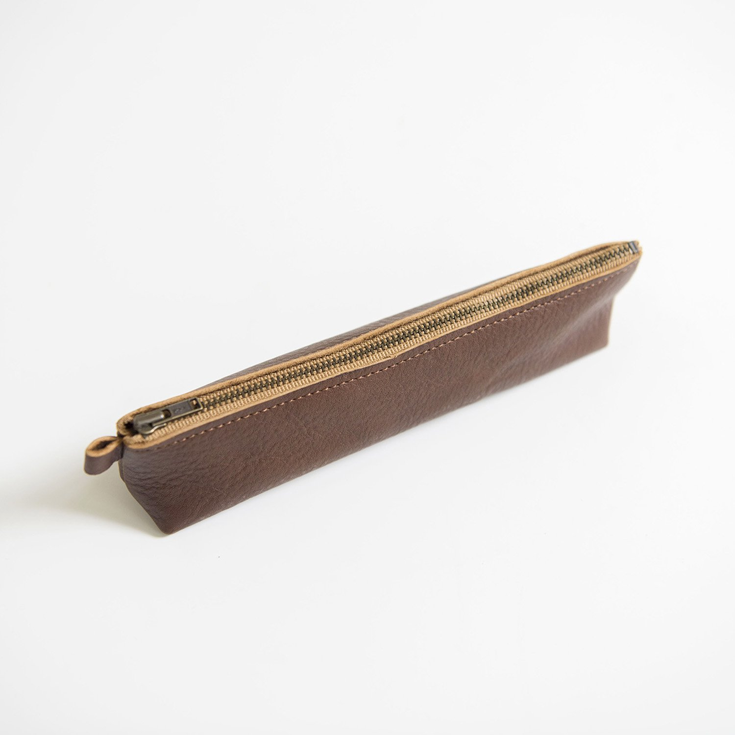 Leather pencase Brown