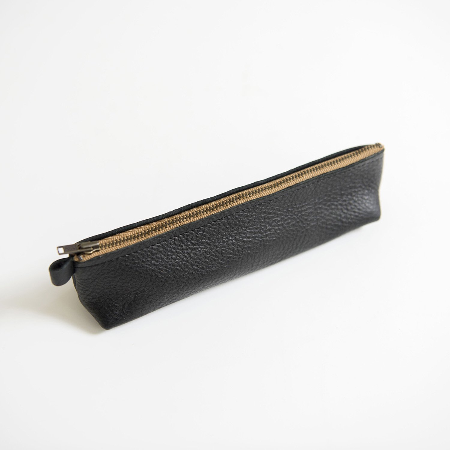 Leather  pencase Black