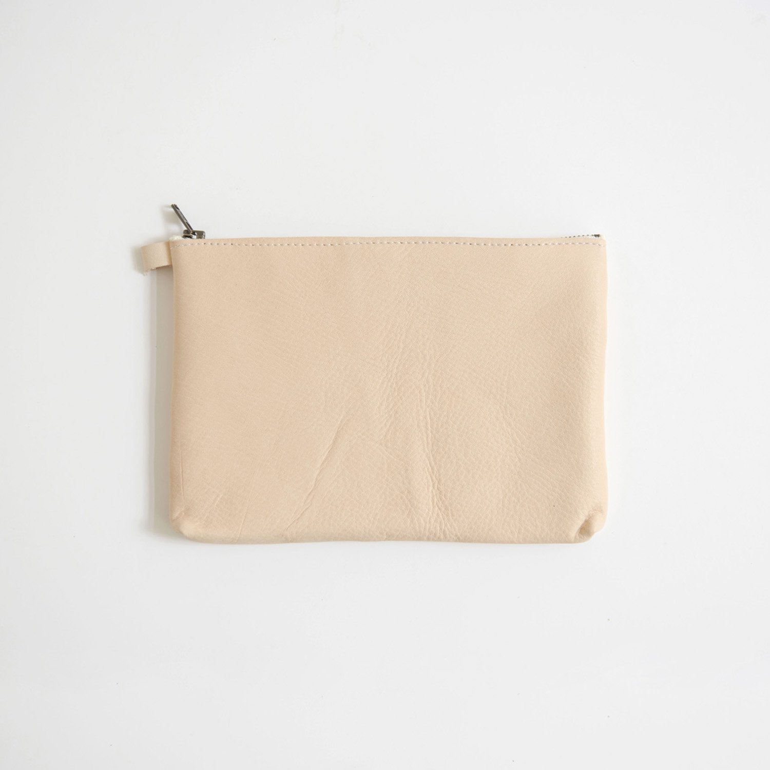 Leather pouch L Natural