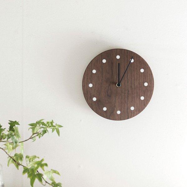 Wall Clock Round ウォルナット