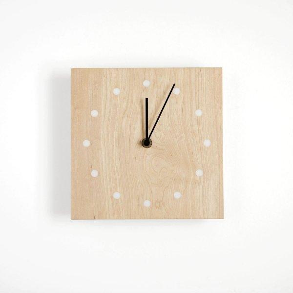 Wall Clock Square イタヤカエデ