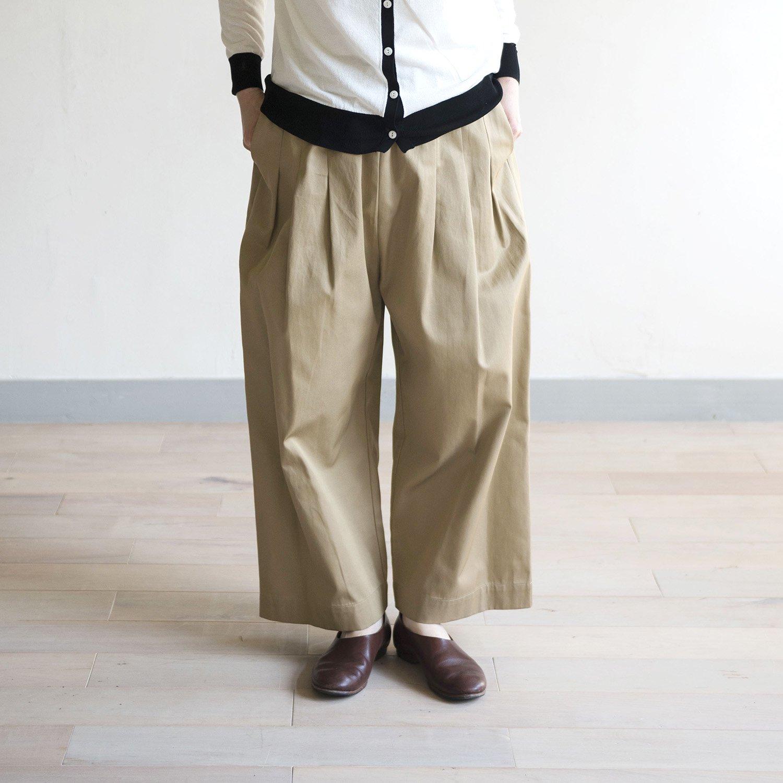 STAMP & DIARY ウェストタックワイドパンツ91cm丈(2カラー)