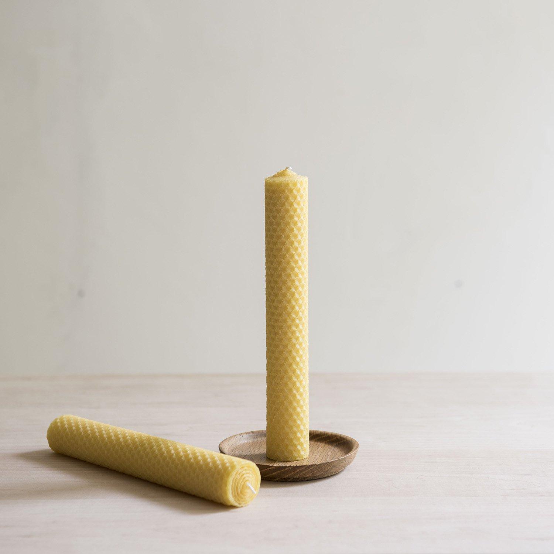 蜜蝋キャンドル  honeycomb candle h200mm