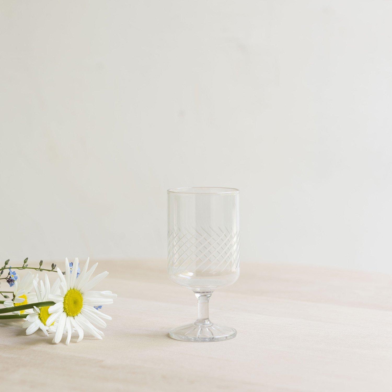 Vintage hand made cristal glass