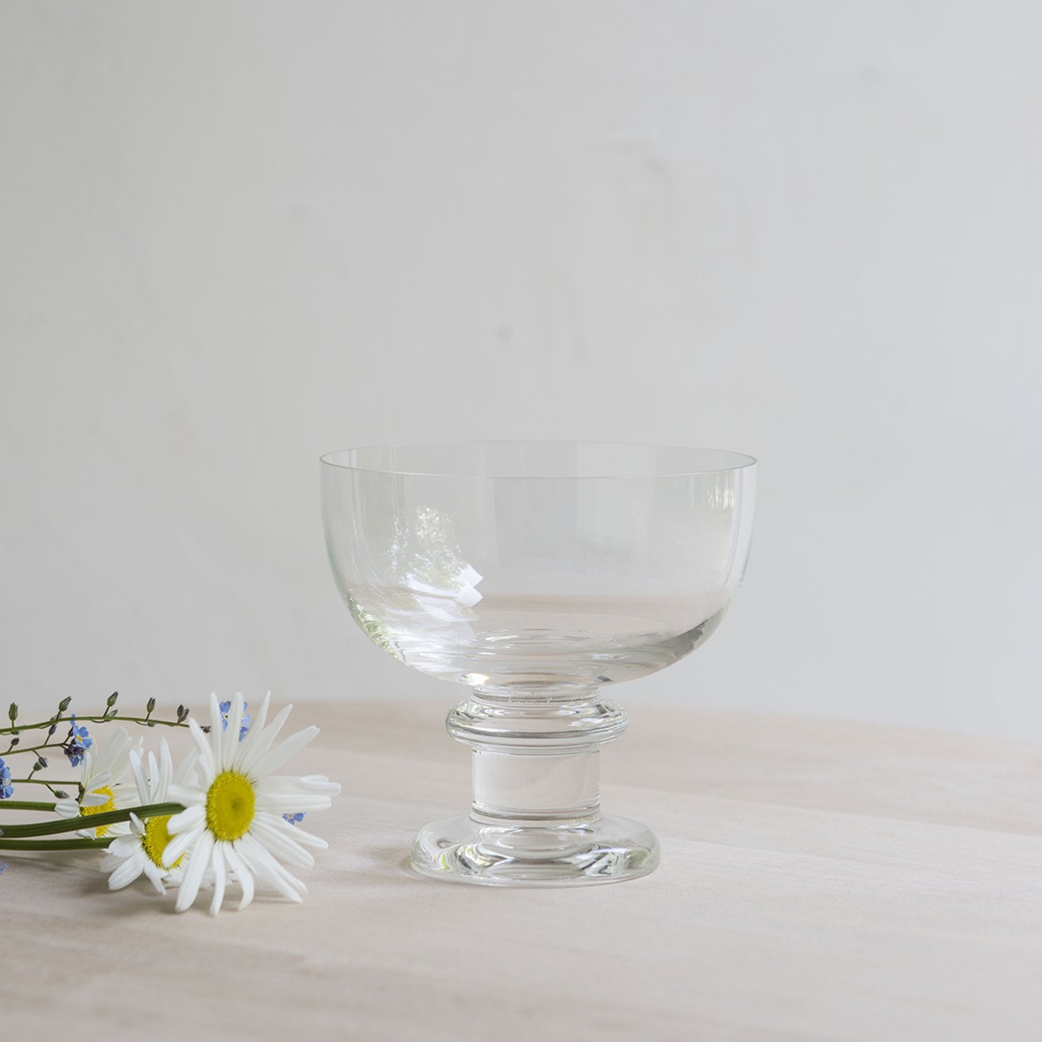 Swedish crystal dessert bowl