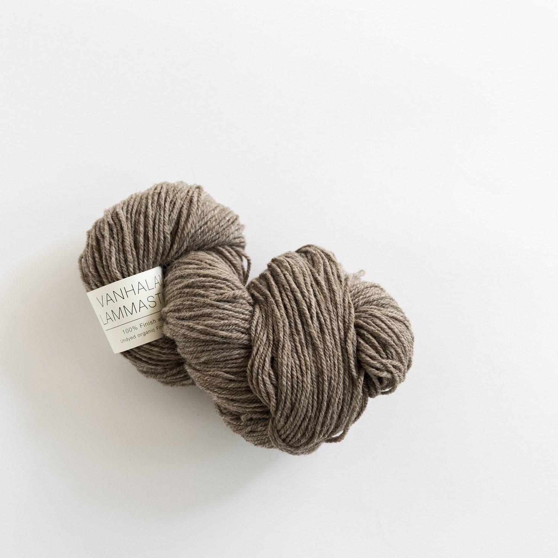 VANHALAN LAMMASTILA <br> フィンランドシープの毛糸 brown