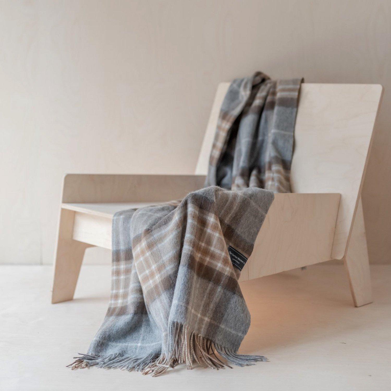 ラムズウール ブランケットスカーフ<br> Mackellar Tartan