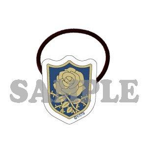 アクリルヘアゴム(髪留め)碧の野薔薇