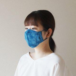 布マスク(大臣型2層)藍染—むらくも薄—1枚入り※ネコポス対応