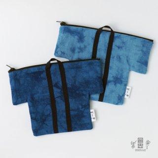 ハッピ型ポーチ 藍染 ※ネコポス対応