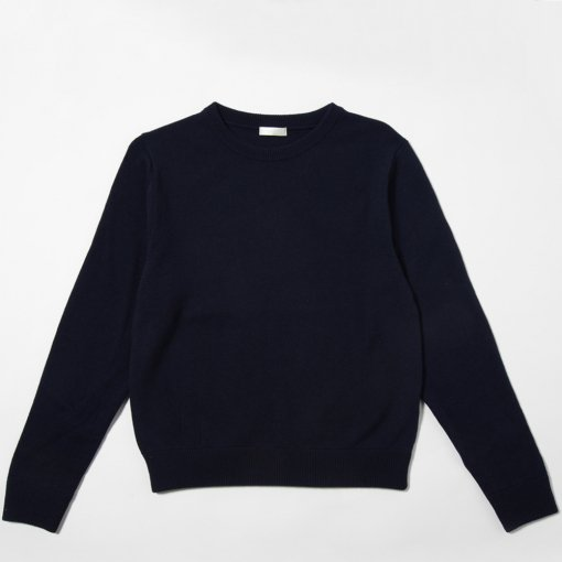 niuhans ニュアンス<br /> Wool Cashmere Elbow Patch Sweater