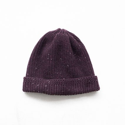 niuhans ニュアンス<br /> Pure Cashmere Knit Cap [Purple]